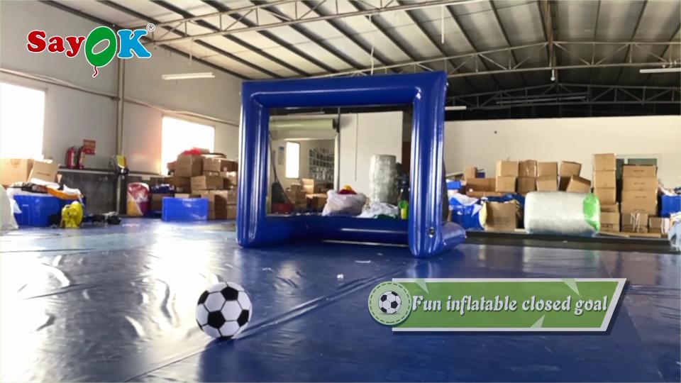 ราคาถูก Inflatable ฟุตบอลเป้าหมายเป้าหมาย Inflatable ฟุตบอลยิงเป้าหมายเกมสำหรับ Inflatable ทีมอาคารเกม