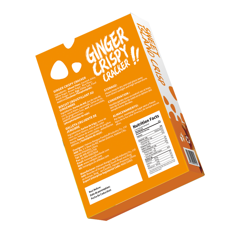 SUPER SEPTEMBER Hot Sale Ginger Coconut Crispy Crackers Biscuits Cookies Snack