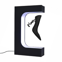 Spot OEM customizable adidas nike shoe sneaker LED Lamp rotating acrylic levitation shoe display