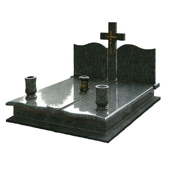 Black Marble Monument Tombstone Cemetery Tombstones for Graves Set