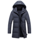 High quality 90% white down jacket men thick Russia winter men jacket hat windbreakers long coat long down jacket -40 degree
