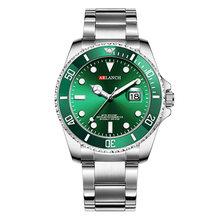 Мужские модные синие часы спортивные кварцевые часы мужские часы Rolexable Роскошные Rolexable мужские полностью стальные повседневные деловые нар...(Китай)