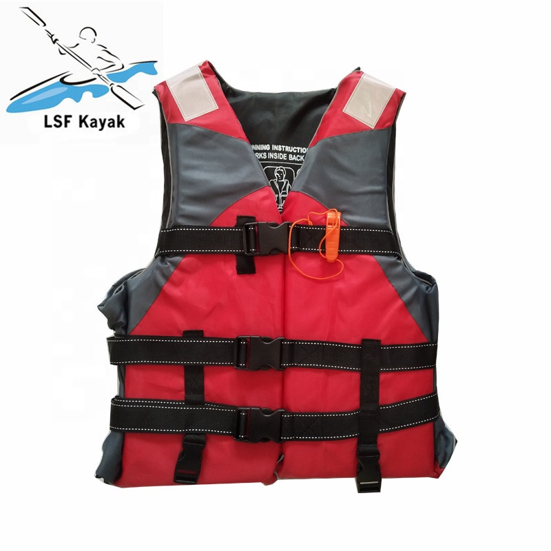 Professional Kayak <strong>Life</strong> <strong>Jacket</strong> with Whistle Belt Tighten Inflatable Vest for kayaking safely protect people from drowning