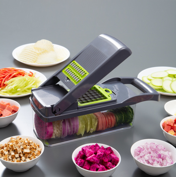 kitchen gadgets/accessories/tools stainless steel multi-function manual fruit vegetable/cutter/chopper vegetable slicer