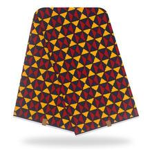 2020 оригинальная Настоящая Африканская ткань с восковой печатью, ткань для свадебного платья, африканская ткань, 100% хлопок, ткань Анкары, вос...(Китай)