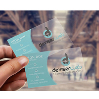 2019 high quality transparent plastic pvc business card/pvc business card printing