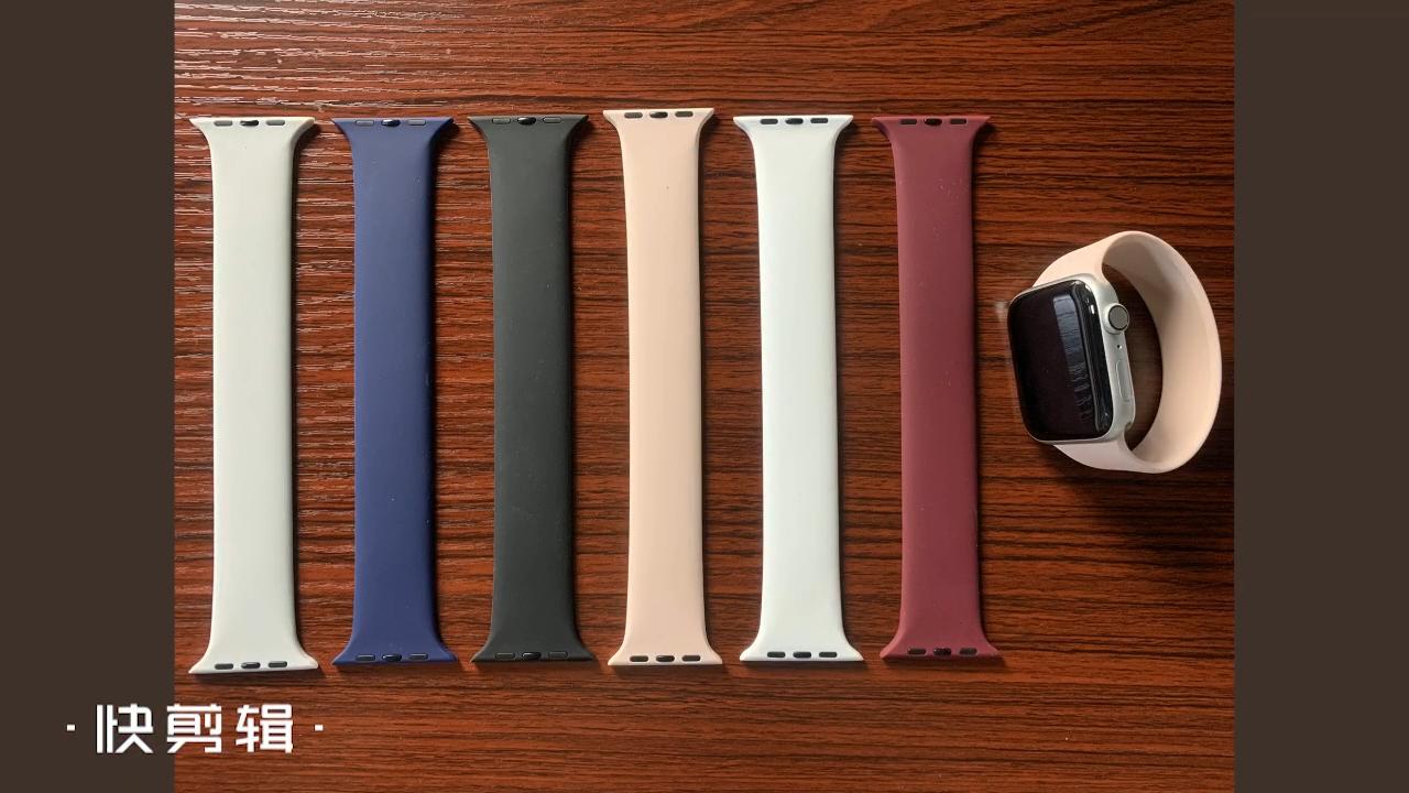 2020 moda özel baskı örgülü Solo döngü silikon saat kayışı için Apple saat kordonları 1 2 3 4 5 6