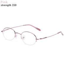 Металлические овальные очки с полуоправой, очки для близорукости, ультра светильник, очки для чтения из смолы, портативные очки для зрения, ...(Китай)