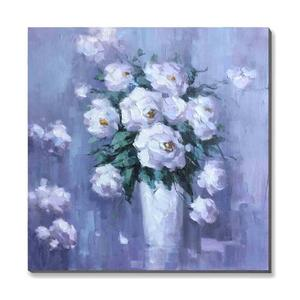 China Supply Beautiful Abstract Flower Oil Painting On Canvas