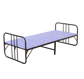 Simple ottoman folding bed wholesale cheap single metal folding bed antique iron folding bed