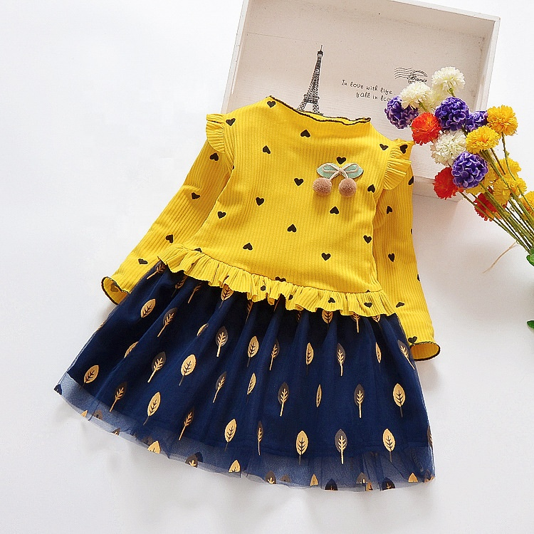 Spring Autumn Fabric Wear Kids Clothing Dress Casual Baby Girl Dress