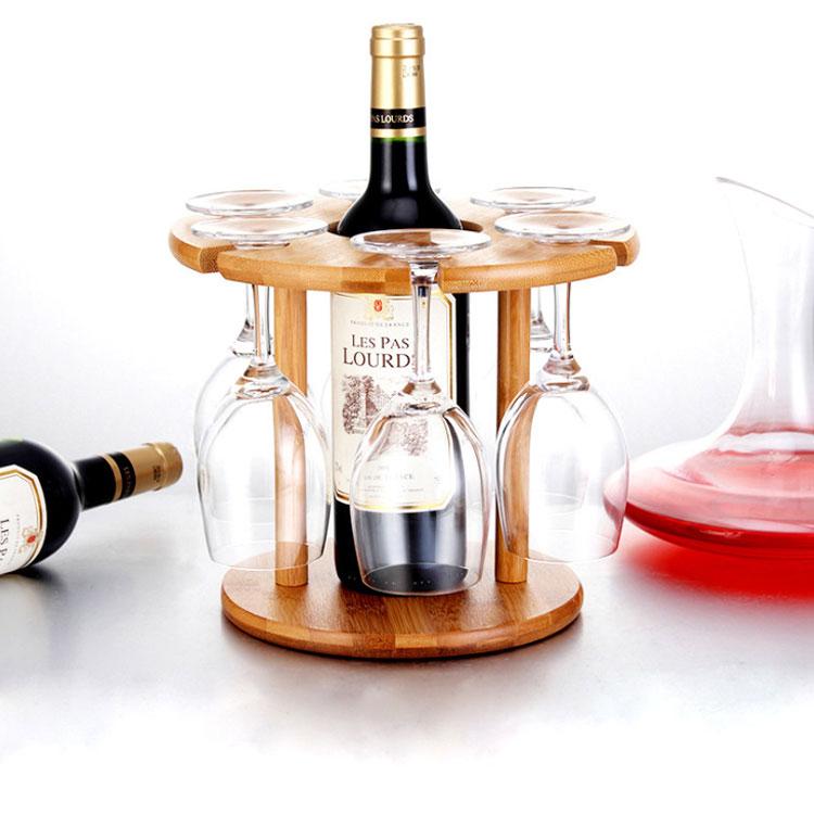High Quality bamboo wine holder