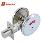 Home Security Satin Chrome No Keys Deadbolt Door Lock For Privacy Lock