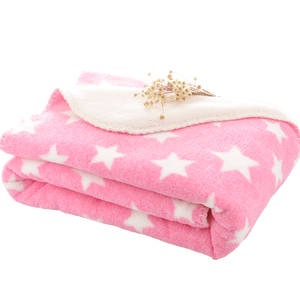 Fugari Coral Fleece Reversing Sherpa Winter Nap Blanket For Children