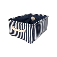 Household Rectangular Waterproof Baby Toy Canvas Fabric Woven Shallow Organizer Book Hamper Storage Basket