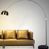 High quality indoor standing led modern arc floor lamp