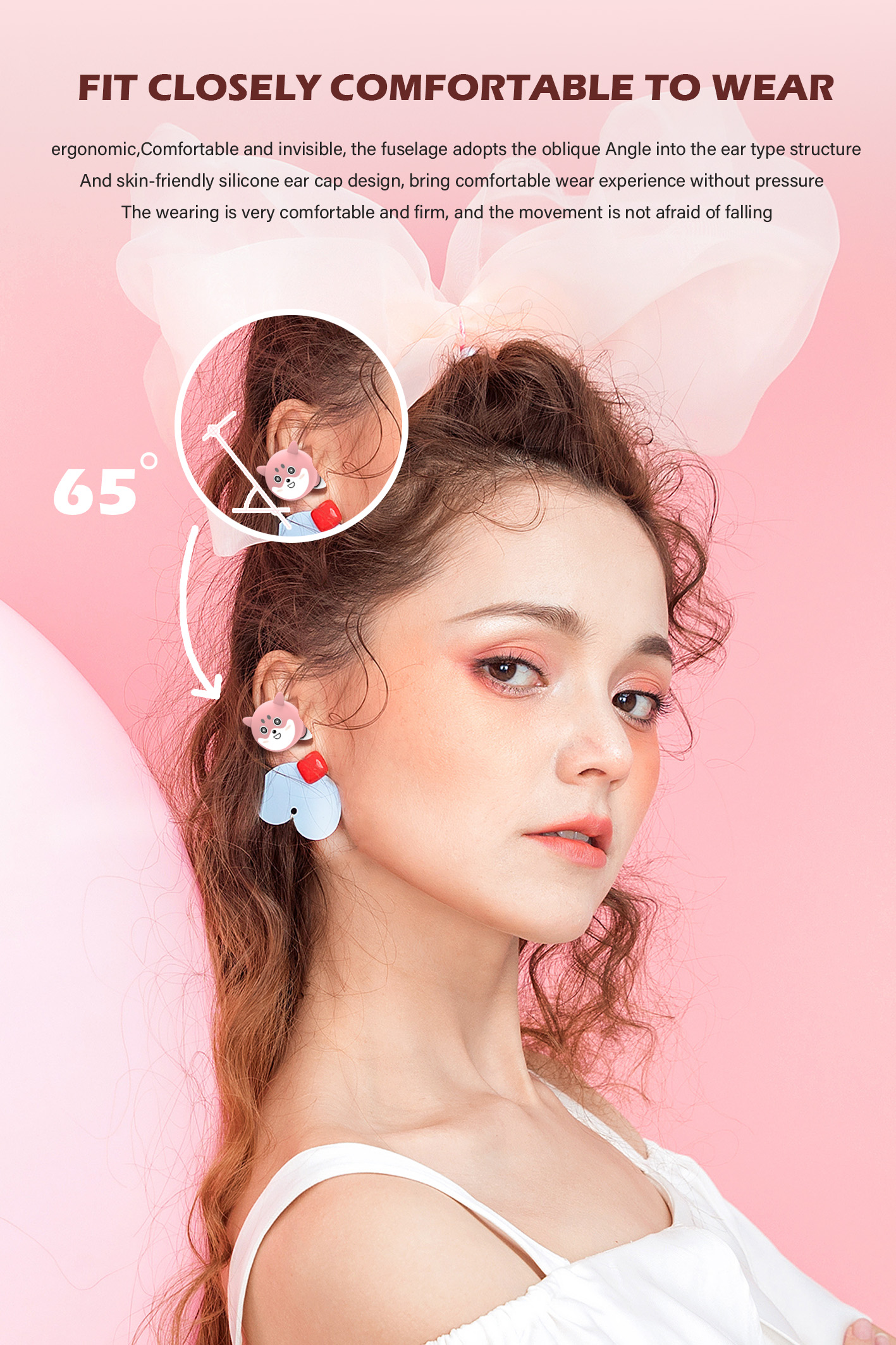 Perfect High Quality Wireless Stereo Headset In-ear Mobile Bluetooth Earphone