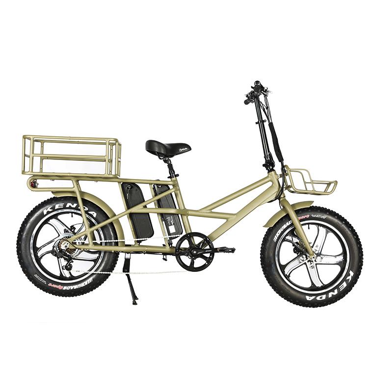 """Ban Sepeda Listrik, Sepeda Kargo Jarak Jauh 120Km dengan Ban Lemak 20 """"X4.0 dengan Baterai Lithium 48V 13Ah Ganda"""