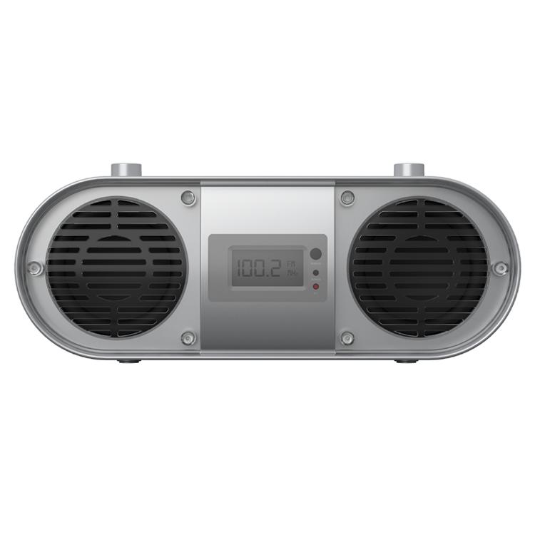 שחור ביתי נייד סטריאו צליל רמקול CD נגן Boombox עם FM רדיו