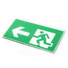 Custom green photoluminescent fire luminescent directional exit signs with emergency lighting for safety