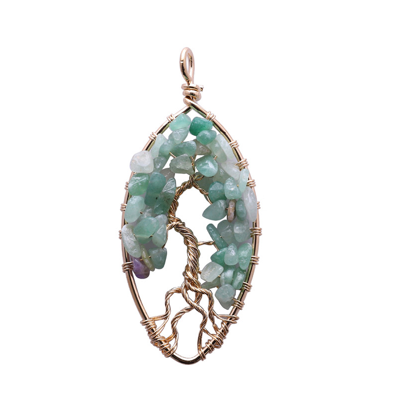 <strong>Natural</strong> crystal necklace <strong>pendant</strong> lucky charm tree of life