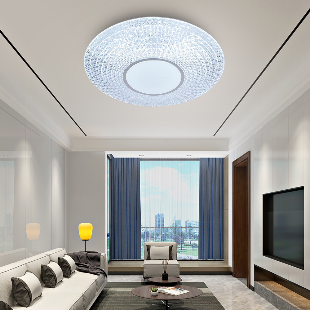 Modern crystal led ceiling light lamp 24W 36W white color remote control led ceiling light home office hotel lamparas led techo