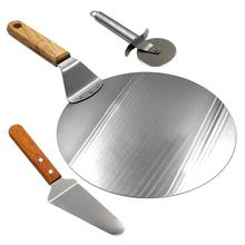 Runde Metall <span class=keywords><strong>Pizza</strong></span> Peel mit <span class=keywords><strong>Holz</strong></span> Griff Und <span class=keywords><strong>Pizza</strong></span> Cutter Rad & <span class=keywords><strong>Pizza</strong></span> Schaufel Für die Speisen