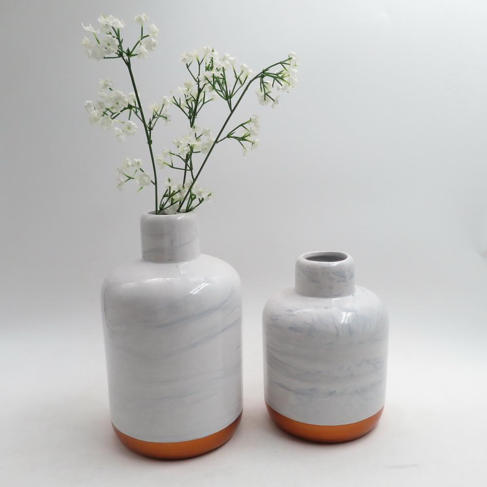 Modern Minimalist Wood Grain Ceramics Living Dining Room Decoration Flower Ceramic Wedding Vase