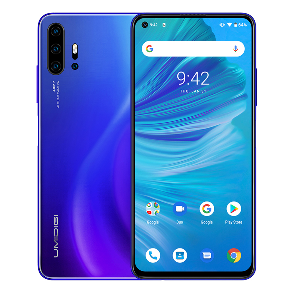 "UMIDIGI F2 Android 10 Mobile Phone 4g 6.53""FHD+6GB 128GB 48MP AI Quad Camera Cellphone Helio P70 Cellphone 5150mAh Smartphone 4g"