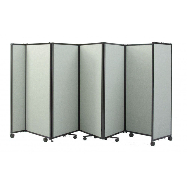 Office Used Portable Metal Room Partition Folding Screen Divider With 4 Panels