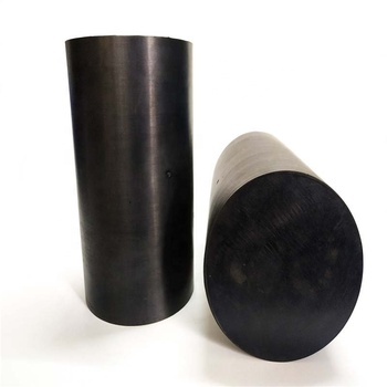 Round solid rubber cushion block black rubber round rod rubber elastic cushion natural rubber shock absorber rubber rod