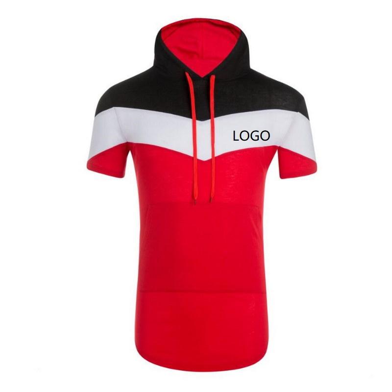 New Summer Men Hip Hop Vertical Striped T Shirt Loose Round Neck Sports Short Sleeve Tops Casual Apparel