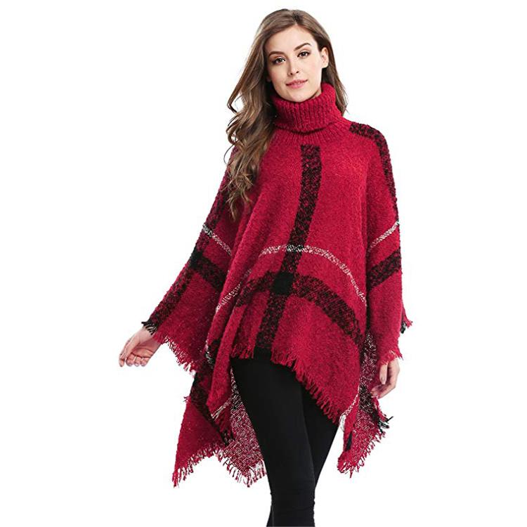 Super September hot sale Fashioncustom woman cape shawl winter poncho