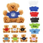 "Origin Plush toy Manufacture Custom LOGO 8"" Bear Teddy Bear with Different Colors T-shirt for choice"