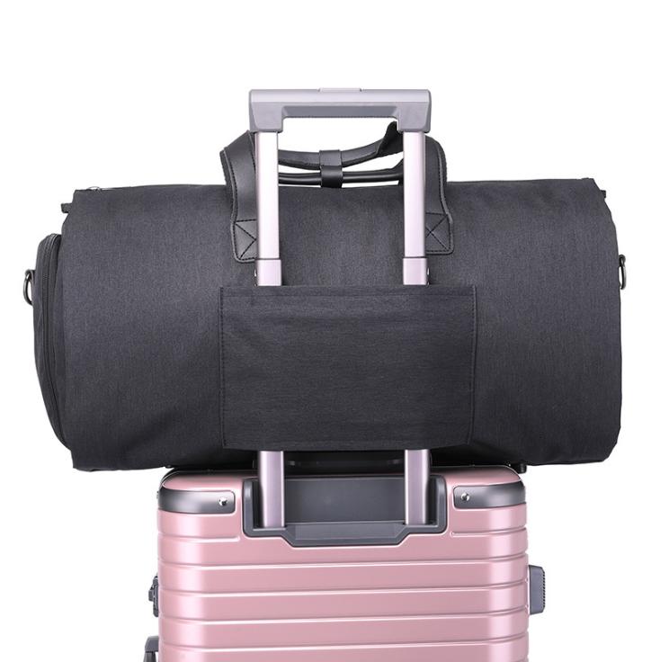 Custom 600D polyester Suit Garment Folding Business Duffle bag Detachable Garment Rolling Shoe Folable Travel Bag