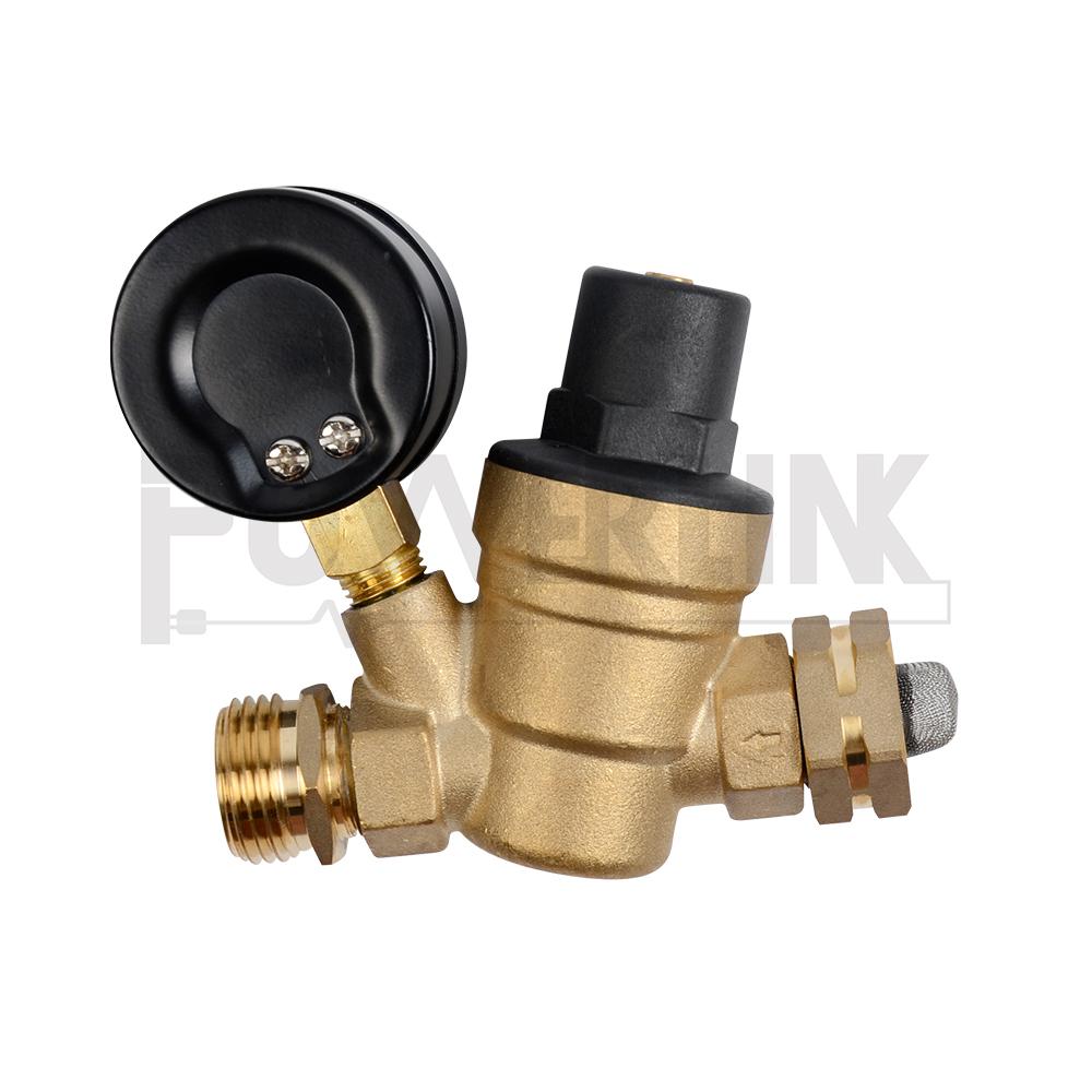 Lead-Free Brass Inline Water Pressure Reducer RVMATE Adjustable Water Pressure Regulator Kit