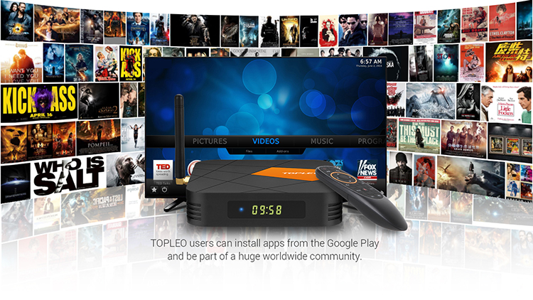 OEM/ODM I96 play voice search remote control Allwinner H6 Android 9.0 6K 4GB 32GB smart tv android box