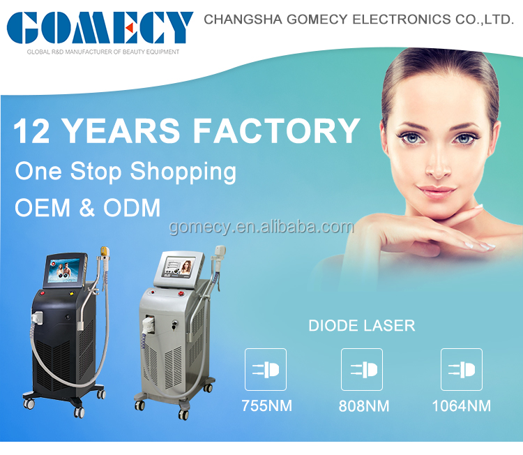 GOMECY Alma Soprano Ice Platinum laser 2019 new Diode Laser 755 808 1064 hair removal machine