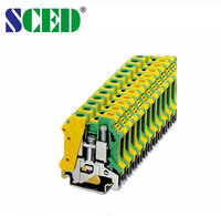 Electrical Din Rail Terminal Blocks,10.2mm Wire Connecting Terminal blocks
