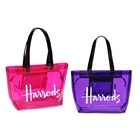 Letter [ Beach Bags Bag ] Beach Bag Tote Bag Beach Bags Fashion Transparent Waterproof Handbag PVC Clear Tote Bag Shoulder Shopping Bag