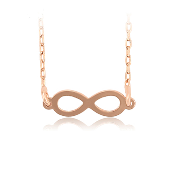 46290 Xuping fashion jewelry rose gold color copper alloy no stone pendant necklace for women