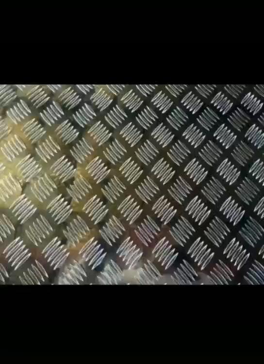 फैक्टरी सीधे बिक्री अच्छी गुणवत्ता की सतह चमकदार विरोधी पर्ची एल्यूमीनियम चेकर थाली