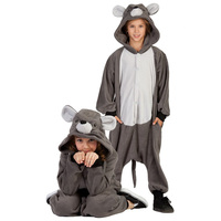 Halloween Carnival party animal rat grey adult children kids baby mouse costume