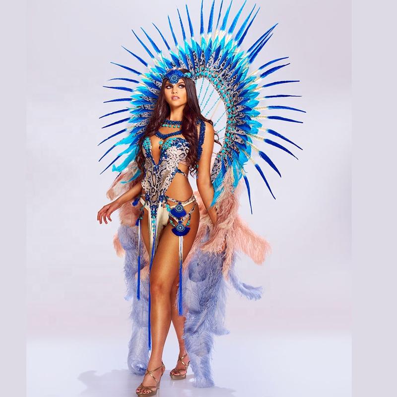 Miami Crazy Carnival Peacook Costume Customized Carnival Costume