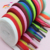 Various Styles Single Layer Blank Colored Shoe Laces Flat Polyester Shoelace with  Plastic Tips