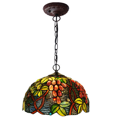 """12""""Grapes shape Lights Wholesale Price Stained Glass Pendant for Decoration Home Ceiling Lamp Tiffany"""