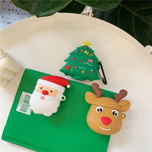 Xmas tree deer santa claus silicone cover for airpod 2 case for apple airpod case cover earphone covers for air pod case soft