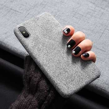 FLOVEME Free Shipping Light and Soft Cloth Mobile Covers Phone Case For iPhone 6 7 8 Plus X XS