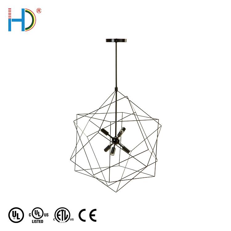 2020 oem neue produkte zeitgenössische moderne design indoor dekoration 5 köpfe schwarz italien kronleuchter anhänger licht