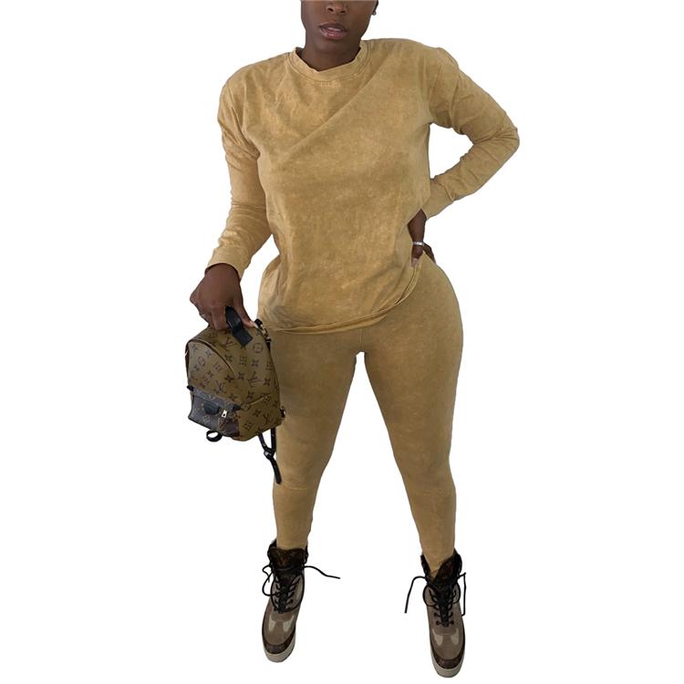 Women winter plus size fall sets long sleeve jogger pants lounge wear 2 piece pants set